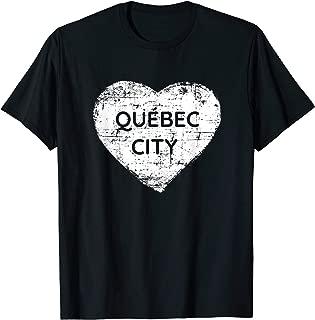 Quebec City Shirt | Love Heart Quebec City t-shirt