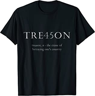 Anti-Trump Treason | TRE45ON Distressed Impeach T-Shirt