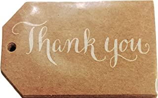 Elegant Blooms & Things Kraft Thank You Favor Tags, 24 ct, cardstock, gift bags, gift tags, cards, wedding, open house, showers, parties, business gifts,
