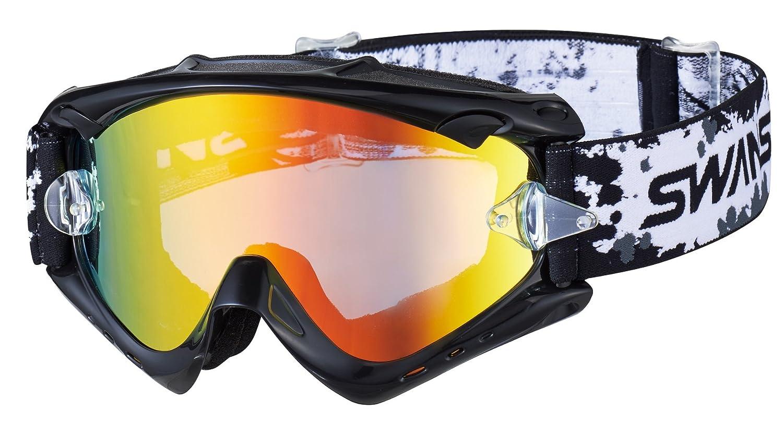 SWANS(スワンズ)ダートゴーグル フレームカラー:ブラック レンズカラー:フラッシュオレンジミラー×スモーク MX-RUSH-M