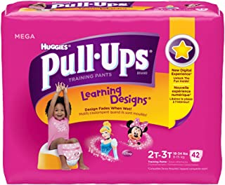 Huggies Pull-Ups Training Pants Learning Designs, 2T - 3T, Girl, 42 Count (Pack of 4)