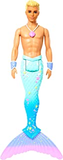 Barbie Dreamtopia Merman Doll, Approx. 12-Inch with Blue Rainbow Tail and Blonde Hair, for 3 to 7...