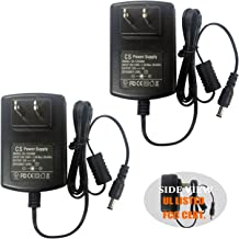 2pack AC to DC 12V 3A 12V3A Power Adapter Supply Switching for Cameras DVR NVR LED Light Strip DC5.52.1mm UL Listed FCC