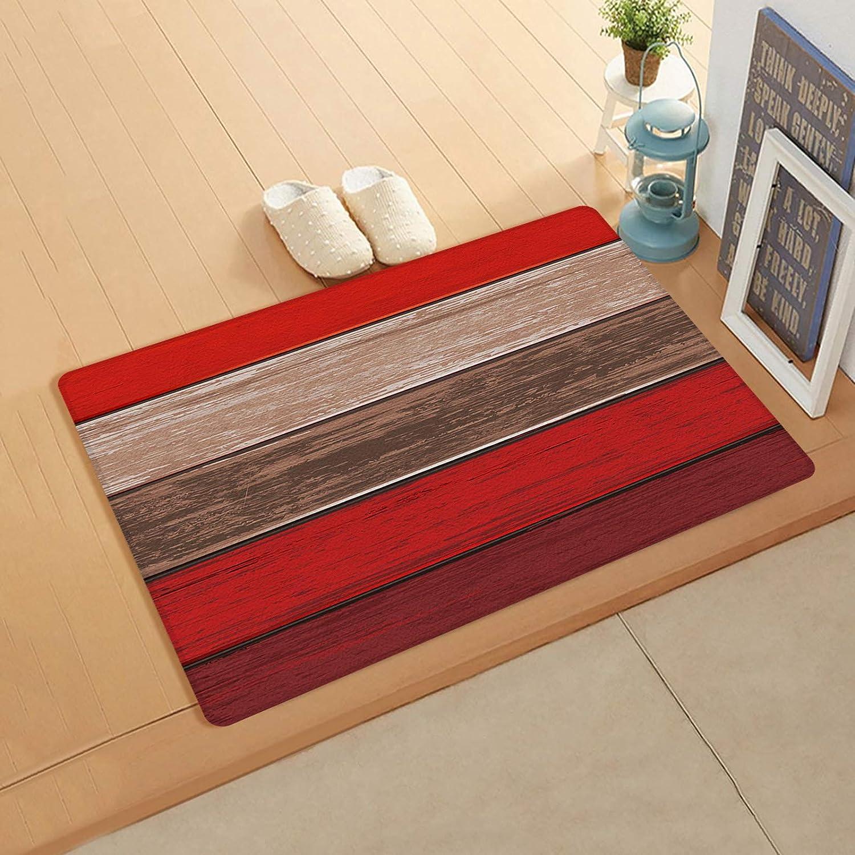 Popular popular Anti Fatigue Mats for Kitchen Floor Wood Over item handling ☆ Brown Barn Red Rustic