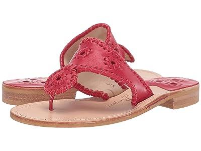Jack Rogers Jacks Flat Sandal (Red) Women
