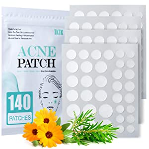 Acne Patch Pimple Patch, 4 Sizes 140 Patches Acne Absorbing Cover Patch, Hydrocolloid Invisible Acne Patches For Face Zit Patch Acne Dots Tea Tree, Calendula Oil - 1 Pack