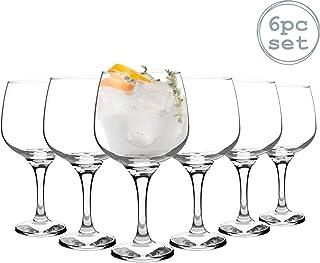 Rink Drink 6 Pieza Gin Globo Conjunto de Cristal - Gran Copa Estilo Cuenco de Cristal - 730 ml