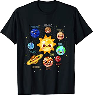 Sistema solare pianeta spazio bambini astronauti Maglietta