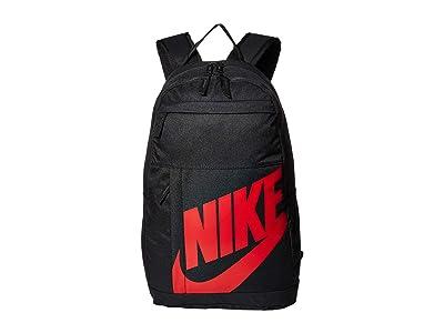Nike Elemental Backpack 2.0 (Black/Black/University Red) Backpack Bags