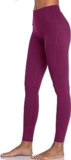 Oalka Women's Power Flex Yoga Pants Workout Running Leggings