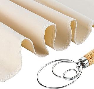 Professional Bakers 26x35 Dough Couche Proofing Cloth, Baking Couche Linen Cloth 100% Pure Cotton Pastry Baguettes Bread T...