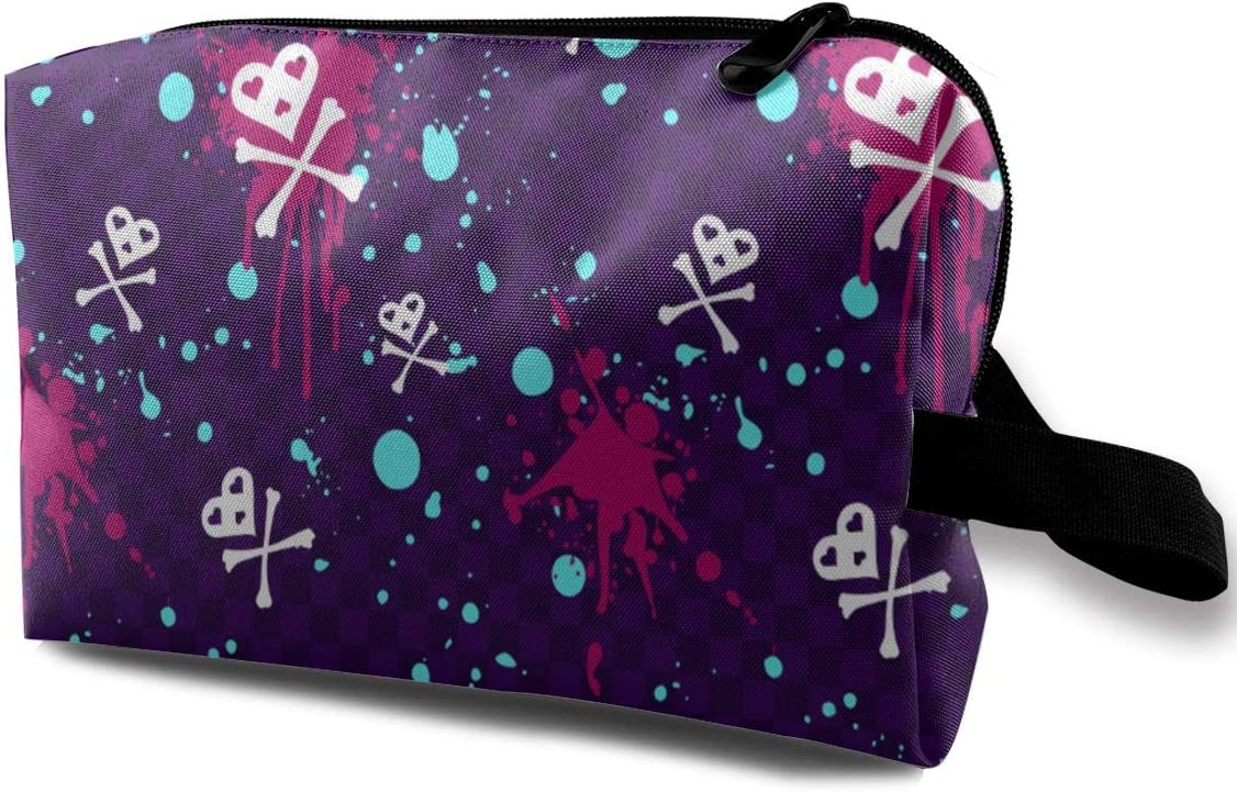 QiiRy Clashing Colors Skull Paint Travel Dust-Proo 4 years warranty Bags safety Portable