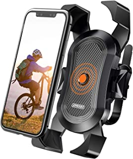 Bike Phone Mount, Secure Lock & Bicycle Cell Phone Holder...
