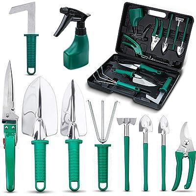 NASUM 10 Pieces Garden Tools Set - Stainless St...
