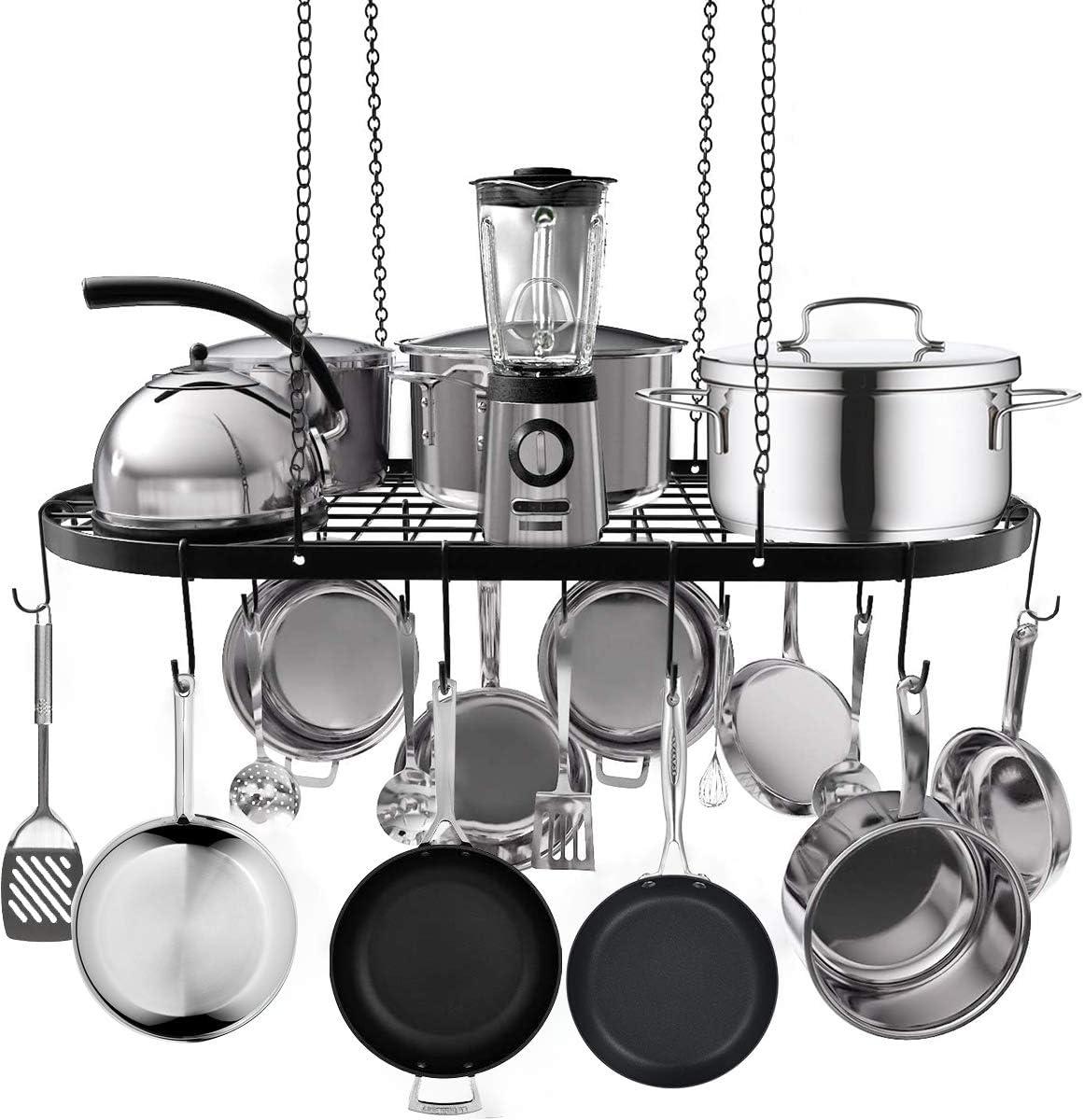 Hanging Pot and Pan Rack Ranking TOP12 Hanger store Ceiling Mount Cookware