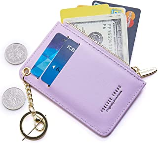 Slim Leather Card Case Holder Front Pocket Wallet Change...