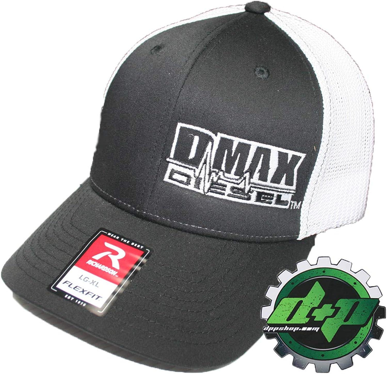 Diesel Power Plus Duramax Richardson 110 Dmax Truck Hat Black Flexfit White Mesh Back L XL