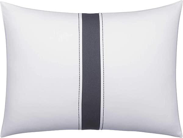Vera Wang Zig Zag Throw Pillow 12x16 White