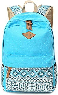 M inch Polka Dot Laptop Backpack- Professional Canvas 14