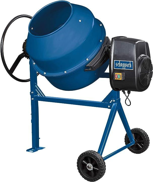 Betoniera elettrica 160l 650w scheppach mix160 5908405901