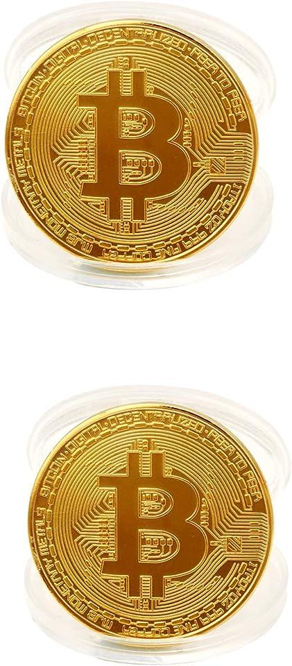 Gold überzogene Bitcoin Münze Sammlerstück BTC Münze Kunstsammlung Physikalisch Kollektion EIN Muss für jeden Krypto-Fan 38mm