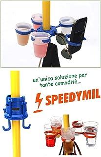 Speedymil - Portaobjetos, portavasos y Porta Bolsas para sombrillas, Arancione