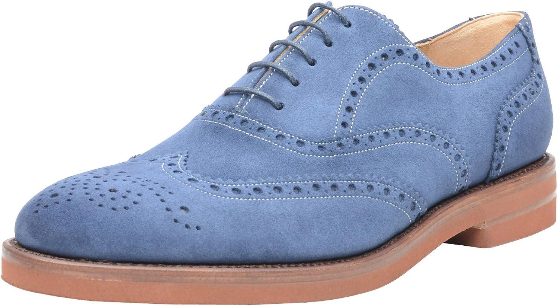 SHOEPASSION No. 310 Full-Brogue Oxford in Blau Extravaganter Business- Business- Business- oder Freizeitschuh für den Besonderen Anlass. Rahmengenäht und handgefertigt aus Feinstem Leder. B01C63WFX8  740c7d