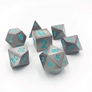 Norse Foundry Set of 7 Spellbound Full Metal Polyhedral Dice RPG Math Games DND Pathfinder …