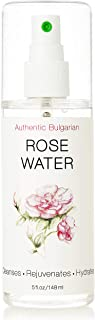 Rose Water Toner Spray Mist - 100% Pure and Natural Rosewater- USDA Certified Organic - Authentic Bulgarian by Bioprocess - Hydrates Refreshes Invigorates 5oz