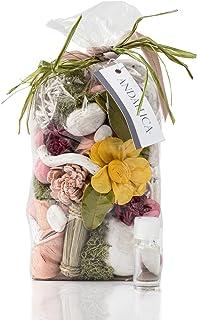Andaluca Large 20 oz Botanical Potpourri Bag & Fragrance Vial Included Pink