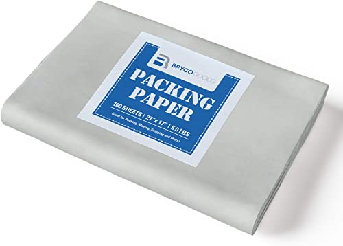 """Packing Paper Sheets for Moving - 5lb - 160 Sheets of Newsprint Paper - Must Have in Your Moving Supplies - 27"""" x 17""""..."""