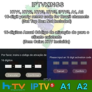 All Box Will Work HTV 1 2 3 5 / A1&A2&A3 / IPTVKINGS/Brazil Box/Super Brazil IPTV Brazil Subscription 16-Digit Renew Code with Magic Keys Free 1 Extra Month and Free Remote