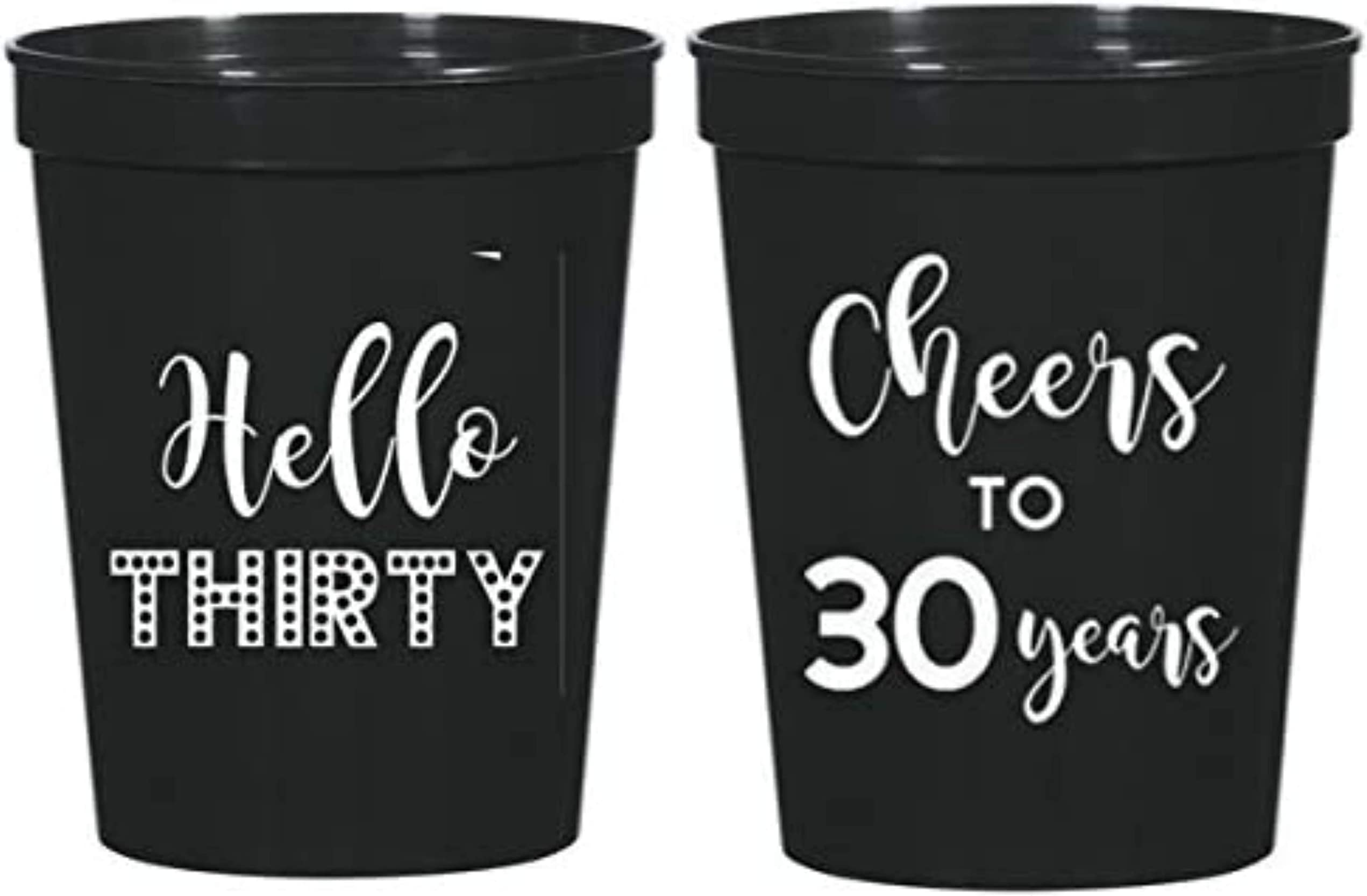 Cheers to 30 Years Dirty 30 Party Cups Frosted Cups Birthday Party Cups 50 Plastic Party Cups 30 40 1568 Cheers 30th Birthday 60