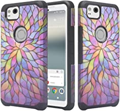 COVERLABUSA Compatible for Pixel 2 XL Case, Google Pixel 2 XL [Hybrid Armor] Protective Soft Silicone Slim Hybrid Protector Case Cover for Pixel 2 XL - Rainbow