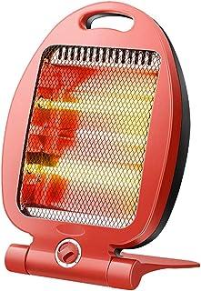 Calentador De Cuarzo Calentador Eléctrico Portátil, Ajuste De La Perilla De Calefacción/Asa De Transporte/Bajo Nivel De Ruido, 300-600 W Rojo 25.5 * 18 * 39cm