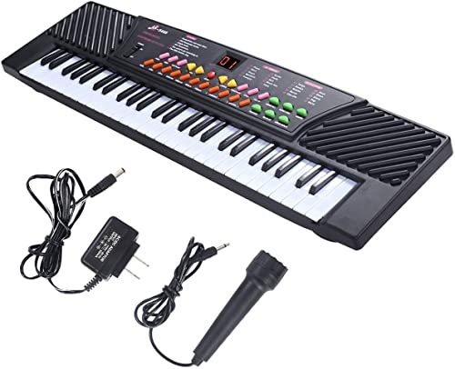 DOMENICO 54 Key Electronic Musical Keyboard Piano Includes Adapter and Microphone