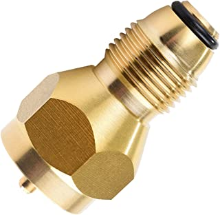 SHINESTAR Universal 1lb Propane Tank Refill Adapter, Mini Propane Fill Adapter for Disposable Small Propane Bottle, LP Gas Cylinder Canister Filler Coupler - Solid Brass Valve Accessories