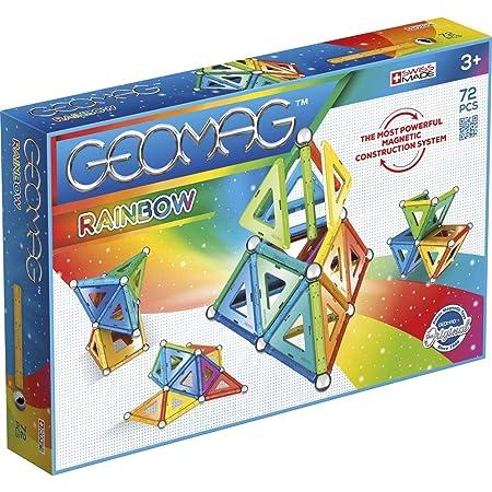 Geomag Rainbow - Juego de construcción magnética, 72 Piezas, Multicolor