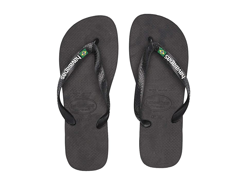 ad1082d4c Havaianas Brasil Logo Unisex Flip Flops (Black Black) Women