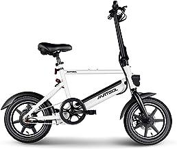 Murtisol Electric Bicycles Aluminium Adult Ebike 36V 250W, 6AH Lithium Battery, Dual Disc Brakes, 3 Digital Adjustable Speed, Hidden Battery Design, Foldable Handle