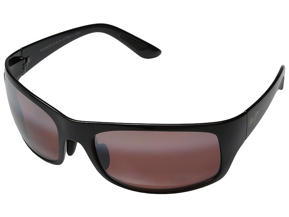 Maui Jim Haleakala (Gloss Black/Maui Rose) Fashion Sunglasses