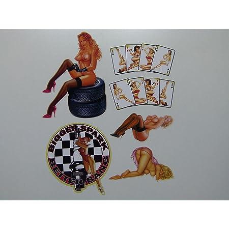 Ace Of Spades Pinup Aufkleber Sticker Spielkarte Autoaufkleber Pokern Pinups Sexy Girls Stickerbomb Nose Art Vintage Jdm Auto