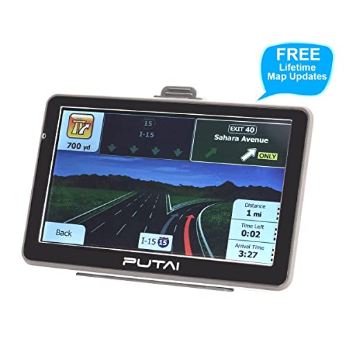 Putai GPS Navigation for Car and Truck, 7 Inch Car GPS Navigator System with High