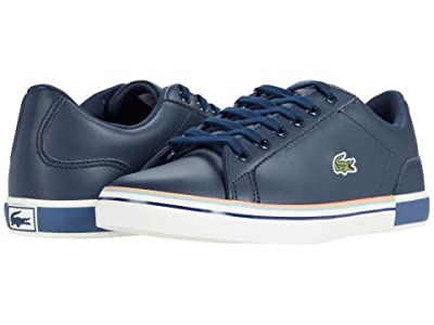 Lacoste Kids Lerond 0320 1 CUJ (Little Kid/Big Kid) (Navy/Off-White) Kid