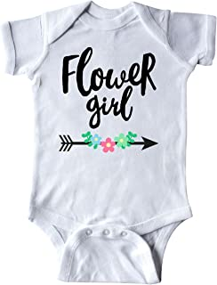 inktastic Flower Girl with Arrow and Flowers Infant Creeper