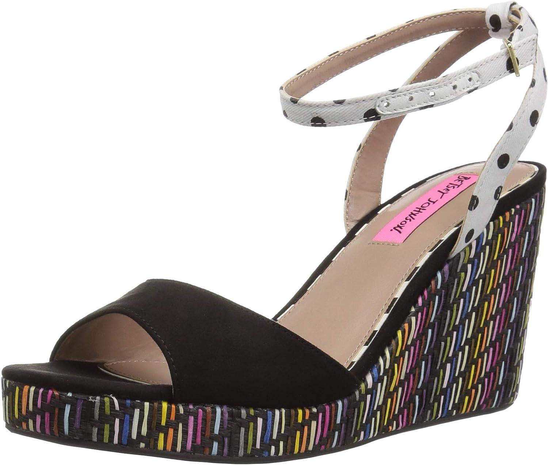 Betsey Johnson Womens Dotie Wedge Sandal