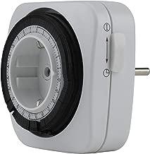 44 IP Unitec 48435/Timer Giornaliero analogico interno con protezione integrata per bambini Argento