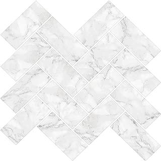 grey herringbone tile kitchen floor