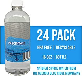 Precipitate, Natural Spring Water, 16.9-Ounce Bottle, 100% Recyclable Plastic Bottle, 24 Pack