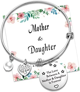 Sponsored Ad - NEWNOVE Mother Daughter Bracelet Engraved Mantra Cuff Bangle Mother's Day Birthday Gift for Mom from Daughter